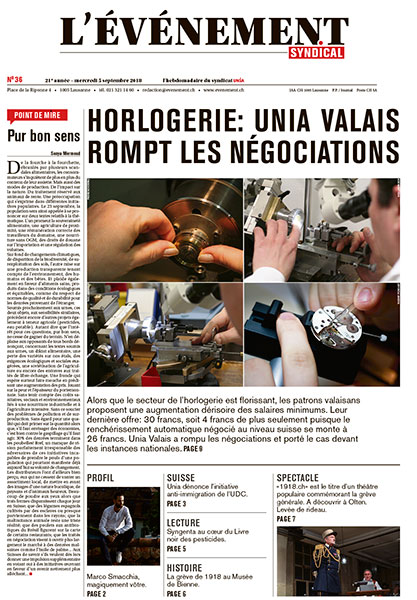 Edition Nº 36 du 05 septembre 2018