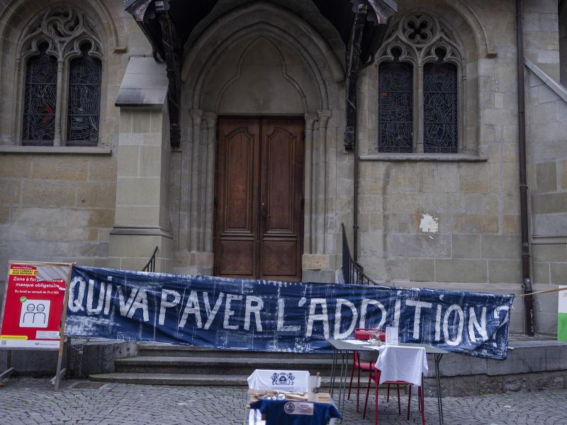 "Banderole ""Qui va payer l'addition?"""